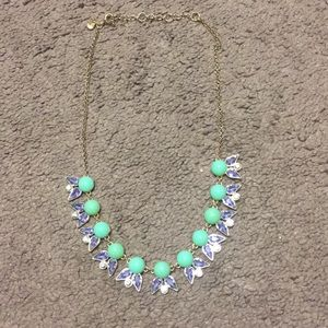 Jcrew Factory green and purple Statement Necklace